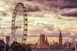 London Eye and Big Ben by Stefan-Becker