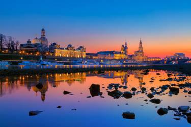 Blue Hour in Dresden by Stefan-Becker