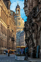 Old town of Dresden by Stefan-Becker