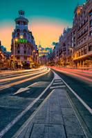 Gran Via, Madrid by Stefan-Becker