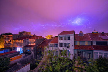 Thunder over Porto by Stefan-Becker
