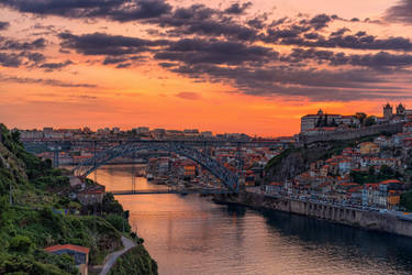 Sunset over Porto by Stefan-Becker