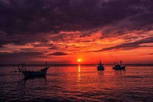 Sunset over Phu Quoc - Vietnam by Stefan-Becker