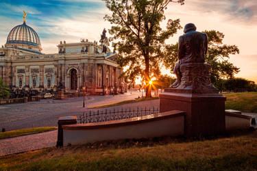 Bruhls Terrace Dresden, Germany by Stefan-Becker