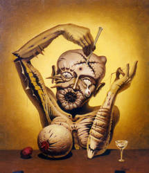 The Physician / Oil on canvas / 40 x 30 cm / 1993 by Michael-Korol