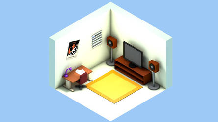 Low poly room by stuileblank