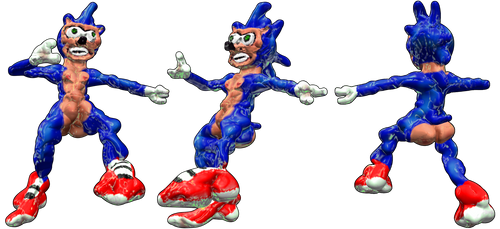 -LEAKED- sonic the hedgehog model (New sonic Game) by fristdynamo2