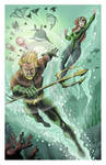Aquaman and Mera by TimelessUnknown
