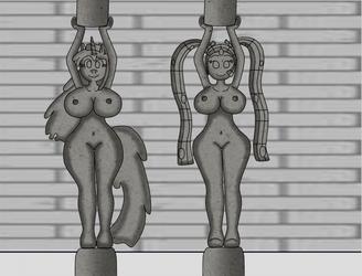 Yuki and Shimmy Pillars by VolcanoElement