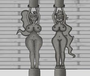 Len' Bun and Gracie pillars by VolcanoElement