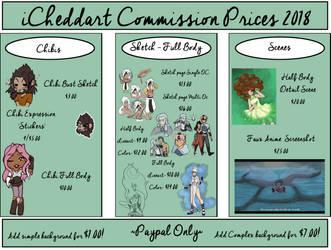 iCheddart Commission Prices 2018: Wait List Open by iCheddart