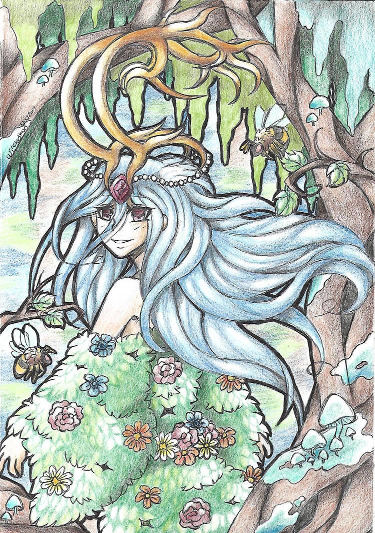 Sketchbook Page 2: Mystic Forest (Art Trade) by acid-flier