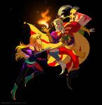 Commission - Destiny VS Kefka by ClaraKerber
