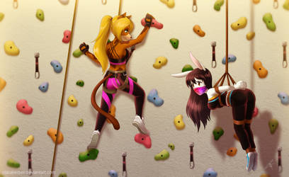 Commission - Indoor Climbing by ClaraKerber