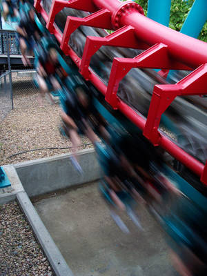 Crisp and Blur Vekoma SLC by infinitethrill