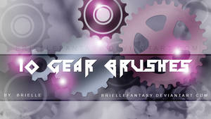 Gear Photoshop Brushes 10 Pieces by BrielleFantasy
