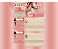 Shay Mitchell design for CityGirlLife fansite by BrielleFantasy