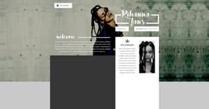 Rihanna PSD Header |FREE by BrielleFantasy