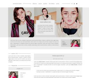 Maisie Williams Gportal Theme | FREE by BrielleFantasy