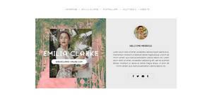 Emilia Clarke Harpers Bazaar PSD header v.02 by BrielleFantasy