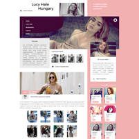 Lucy Hale Hungary WordPress Theme by BrielleFantasy