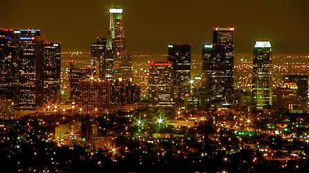 Los Angeles Skyline - Night by RenaissanceNoir