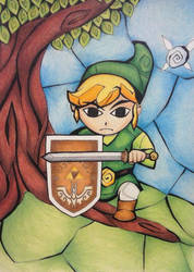 Stained Glass Link - Full Color by brietta-a-m-f