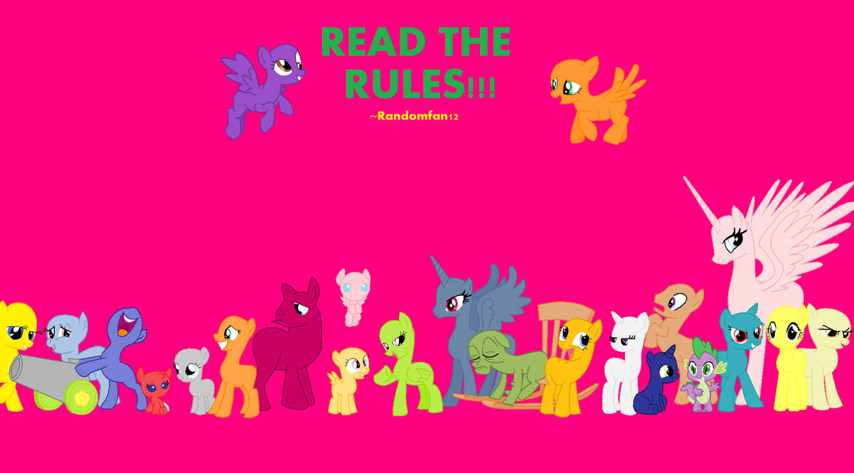 Mlp Pony Base Group Www Topsimages Com