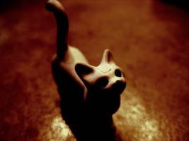 creepy cat by happymaster
