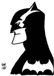 BATMAN Sketch card by dadicus