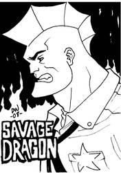SAVAGE DRAGON SKETCH by dadicus