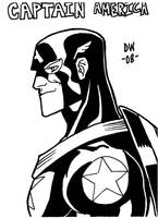 Captain America Sketch by dadicus