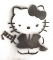 Stencil : hello kitty yakuza by quietzs