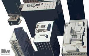 Skyscrapers by mattwileyart