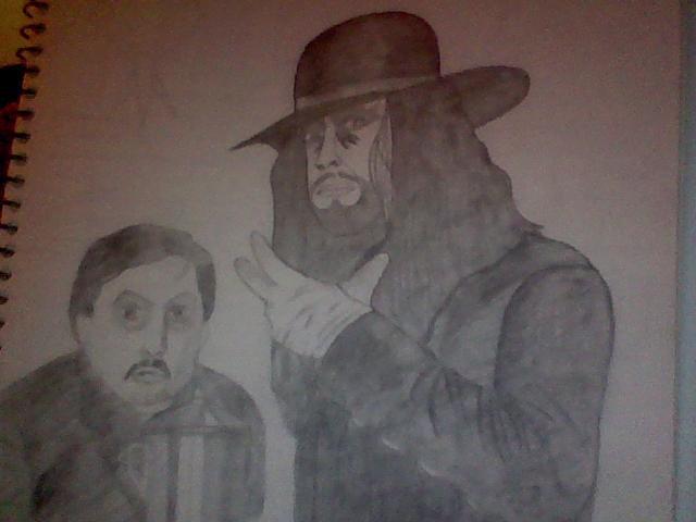 Undertaker with Paul Bearer by Jyoumifan1
