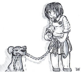 Cat on a Leash by holijay