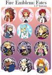 Fire Emblem Fates Buttons by Nozominn