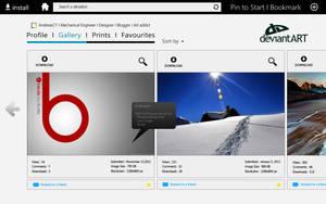 DeviantART Concept App for Microsoft Marketplace by andreascy