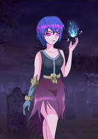 Bruja version anime Clash Royale by Crisshades