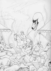 Murderous Renaissance Swan by Djake