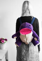 Quaggan plush backpack by FoxInTheSavageGarden