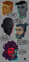 Characters by killaminjaro