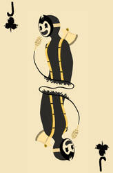 Bendy and the Ink Machine - Naipes - Club Jack by kellenkyo