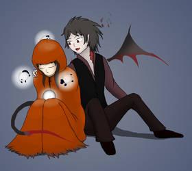Halloween of InkTober: Stanger and Dragon by kellenkyo