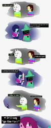 Undertale and DeltaRune - Who are you? by kellenkyo