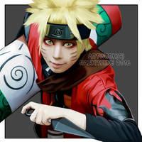 Naruto Sage Mode Painting by RaziKitsune