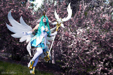 Star Guardian Soraka with flowers by Daraya-crafts