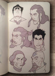 Legend of Korra Expressions by CalebHunt