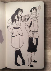 Asami and Bolin by CalebHunt