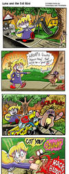 Luna and The Evil Bird -Collab Comic by Comickpro